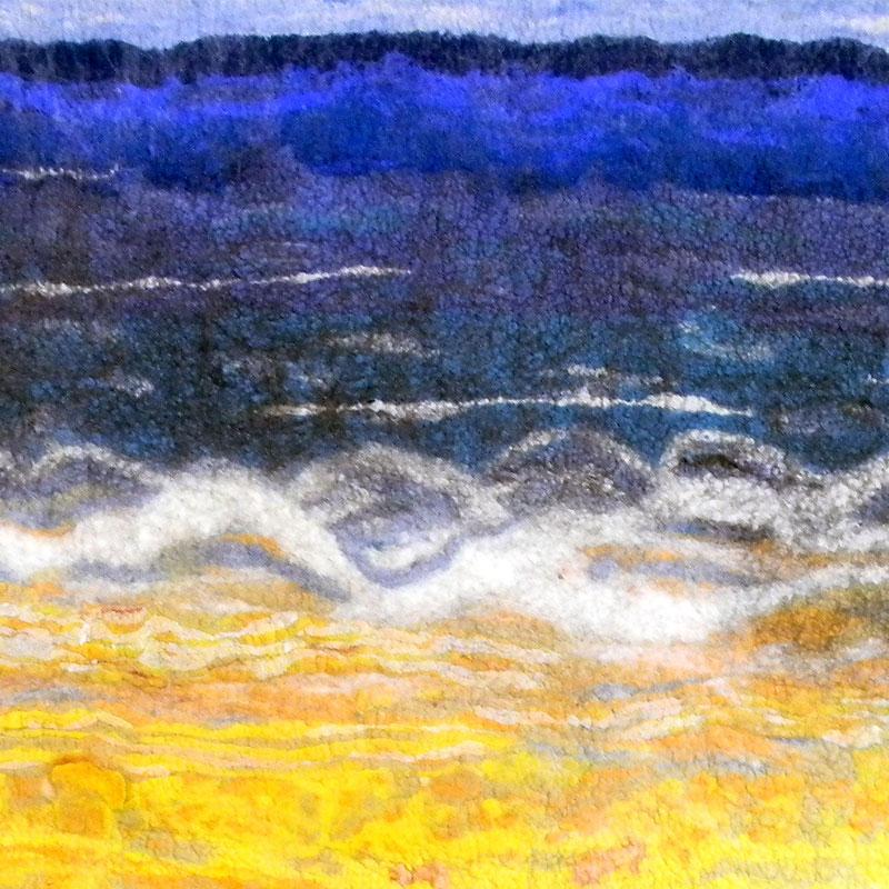 Wool felt artwork - Diane Gonthier
